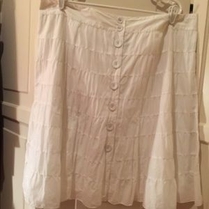 Mossimo fully lined tiered cotton skirt NWOT